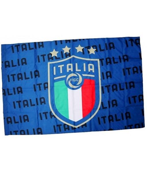 BANDIERA ITALIA F.I.G.C. UFFICIALE GRANDE cm. 100 x 140