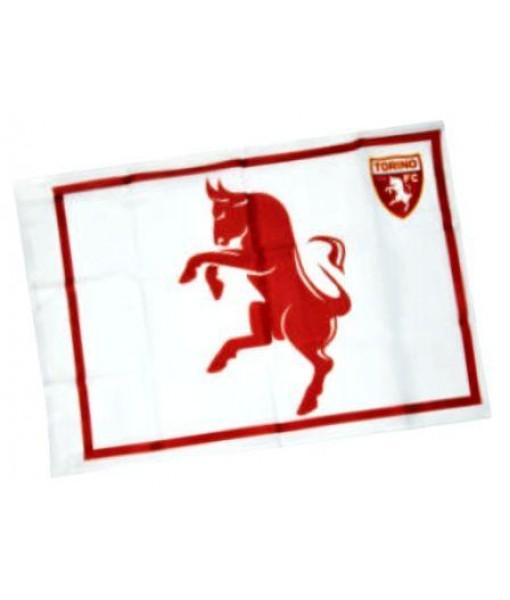 BANDIERA TORINO UFFICIALE TORO BIANCA FLAG cm. 50 x 70