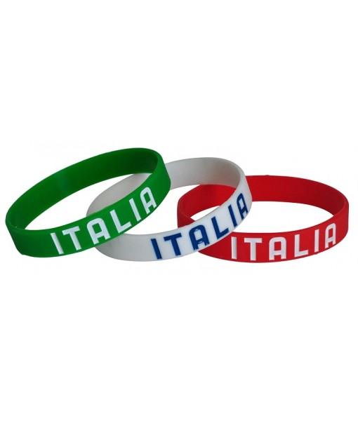 SET 3 BRACCIALETTI ITALIA F.I.G.C. UFFICIALE | KIT BRACCIALETTO ITALIA in SILICONE