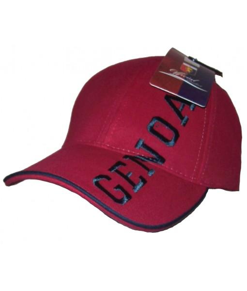 CAPPELLO GENOA UFFICIALE CFC in COTONE BORDEAUX/BLU