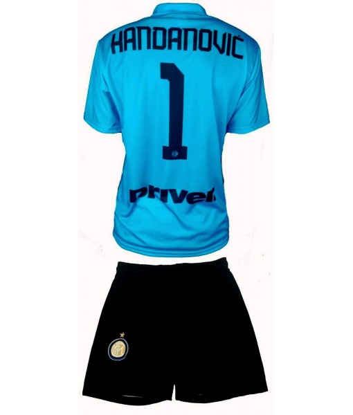 COMPLETO HANDANOVIC INTER UFFICIALE 2019-2020 PORTIERE nr. 1 MAGLIA + PANTALONCINI