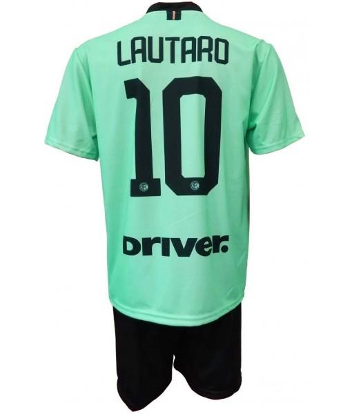 COMPLETO LAUTARO MARTINEZ 10 INTER UFFICIALE AWAY 2019-2020 MAGLIA + PANTALONCINI