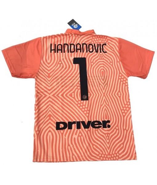 MAGLIA HANDANOVIC INTER UFFICIALE 2020-2021 PORTIERE nr. 1 ARANCIONE