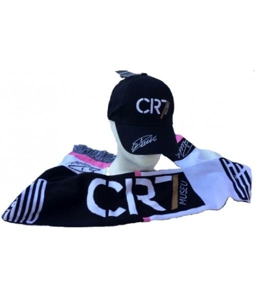 SET CR7 CRISTIANO RONALDO ORIGINALE SCIARPA + CAPPELLO CAPPELLINO KIT UFFICIALE 009