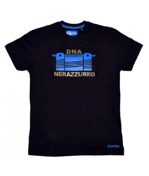 T-SHIRT INTER UFFICIALE DNA NERAZZURRO ADULTO XXL XL L M S in COTONE