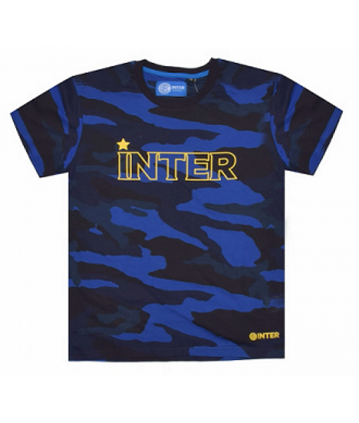 T-SHIRT INTER UFFICIALE CAMOUFLAGE BAMBINO in COTONE